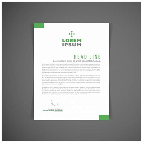 business letterhead vector free green business letterhead vector free
