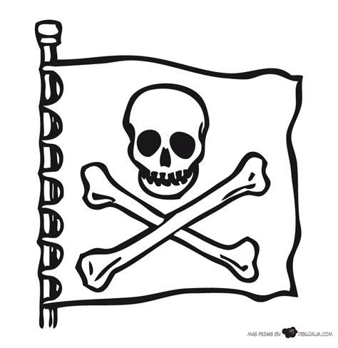 imagenes de calaveras piratas para imprimir bandera pirata huesos dibujalia dibujos para colorear