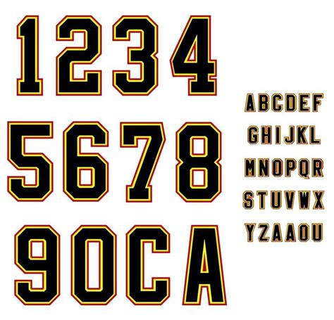printable soccer fonts related keywords suggestions for sports numbers