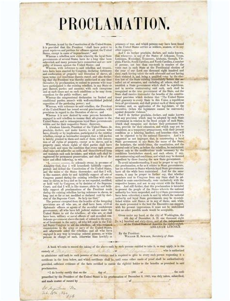 lincoln s 10 percent plan proclamation of amnesty and reconstruction edition