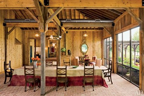 rustic barn style homes  architectural digest