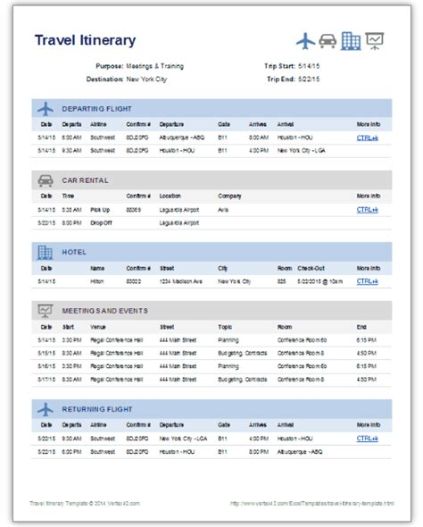 vacation itinerary planner template 9 useful travel itinerary templates that are 100 free