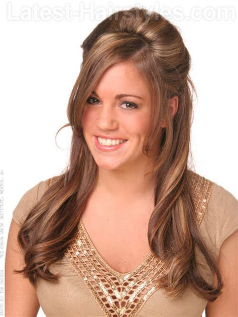 pictures of long hair withlight bangs layered and feathered back on top this just in 20 exquisite long layered haircuts