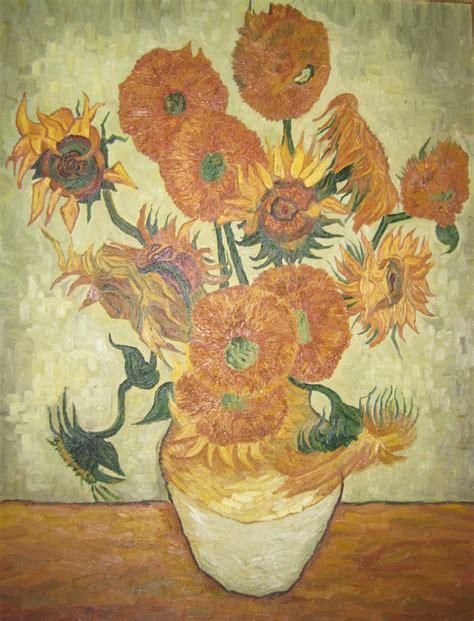 vaso con girasoli gogh i quadri di gogh vaso con 15 girasoli