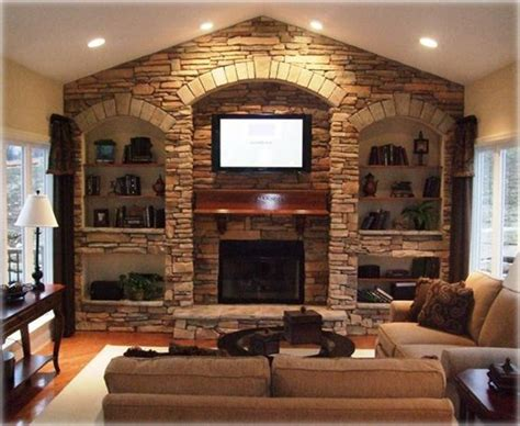 Stone With Built Ins   17 best images about fireplace built ins on pinterest