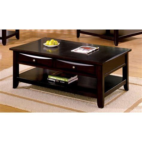 furniture of america coffee table furniture of america bonner coffee table in espresso idf