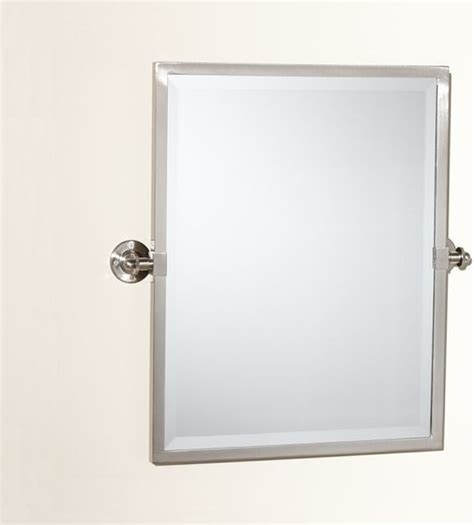 pivoting bathroom mirror kensington pivot mirror traditional bathroom mirrors
