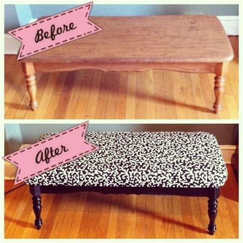 coffee table turned ottoman 25 best ideas about padded bench on pinterest storage