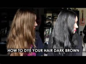 how to color from hair how to dye your hair brown or black rocknroller