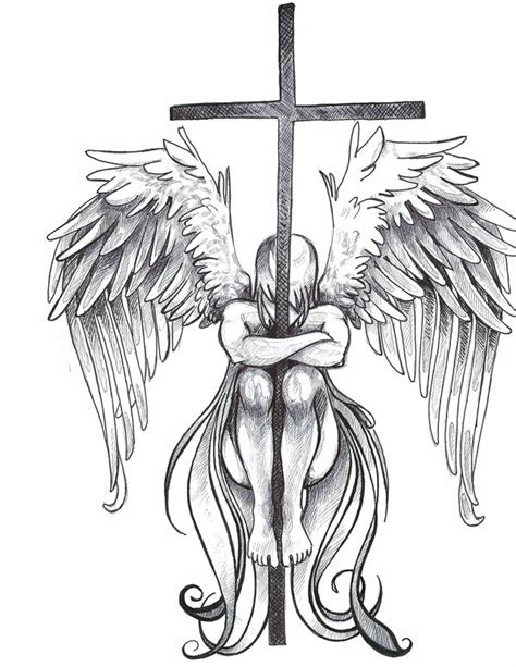 tattoo cross angel wings wings tattoo images designs
