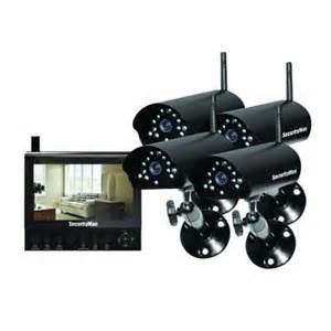 home depot security cameras securityman 4 channel 4 wireless security system with 7