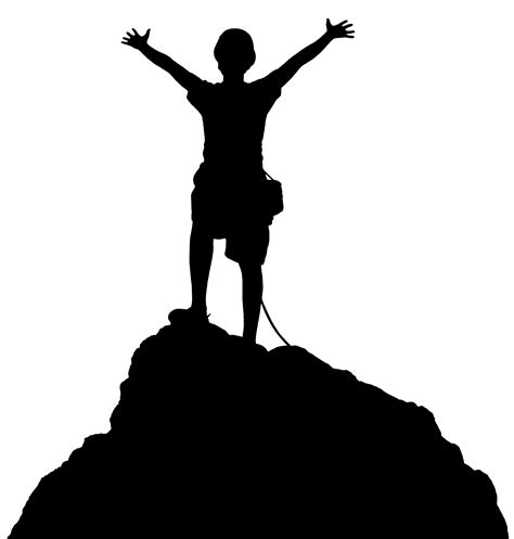 best free clipart best free hiking top of mountain clipart kid image