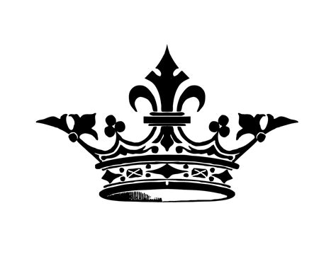 printable black and white crown crown silhouette graphicsfairysm free images at clker