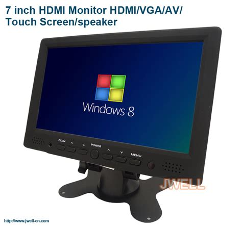 Monitor 7 Inch 7 inch hdmi monitor hdmi vga av touch screen speaker j well industrial co ltd