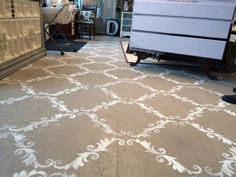 Hometalk   Plywood Floor Stenciled With Chalk Paint