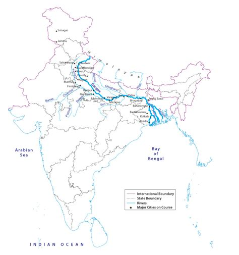 ganges river map clean ganga project integrated ganga conservation mission