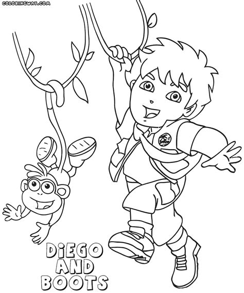diego coloring pages and diego coloring pages coloring pages to