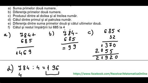 test matematica clasa a v a teste de evaluare initiala test 1 partea