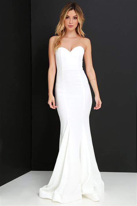 Maxi Sorella sorella ivory strapless maxi dress shopperista