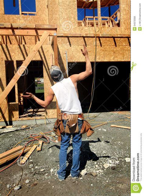 hanger frames carpenter hill framer boss stock photo image of contractor crew common