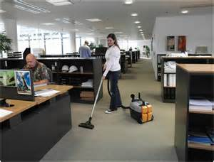 cleaning the office