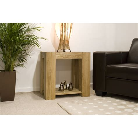 Michigan L Side End Table Solid Oak Living Room Oak Side Tables For Living Room