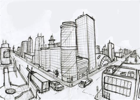 Drawing 2 Point Perspective Buildings by Gossipi S Animation Day 6 Characterizing The Bouncing