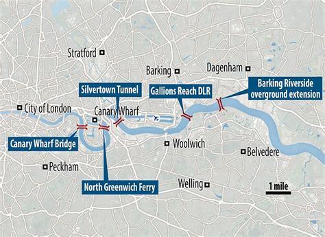 river thames scheme map sadiq khan announces 5 new river thames crossings to ease