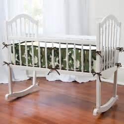 Cradle Bedding Sets Green Camo Cradle Bedding Carousel Designs