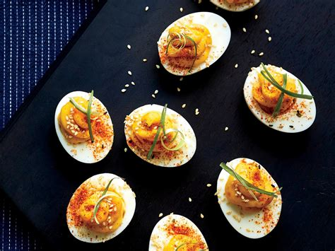 miso deviled eggs   perfect party appetizer
