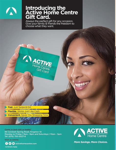 Gift Card Ad - active home centre gift card