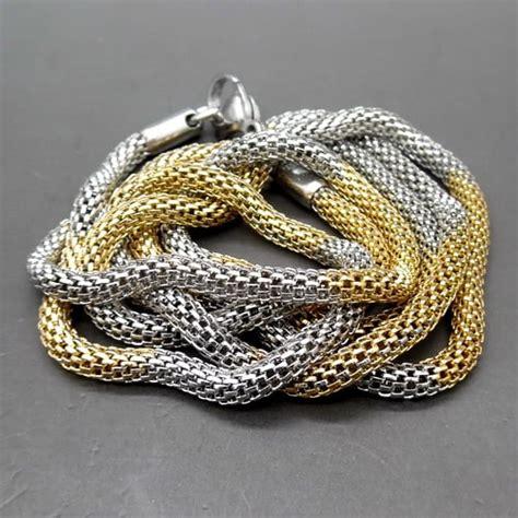 Kalung Titanium Nama kalung titanium kuning emas putih pusaka dunia