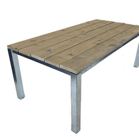 eetkamertafel stalen onderstel tafels met stalen onderstel metalen poten tafels