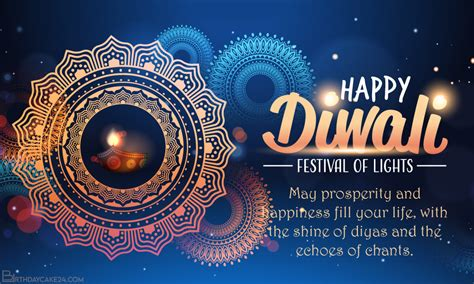 happy diwali hindu festival greeting card