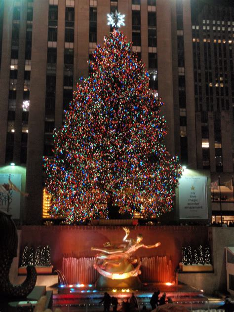 big christmas tree in new york city in new york city new york