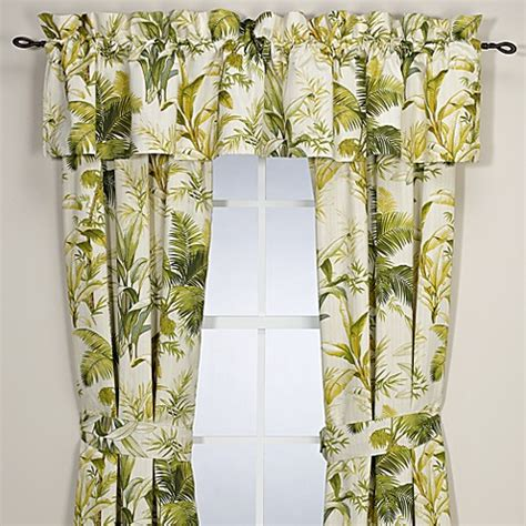 botanical print curtains buy tommy bahama 174 home island botanical window valance