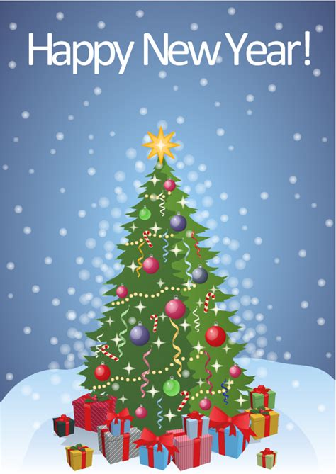 year card christmas tree  gifts  year card christmas bells template merry