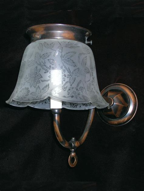Gas Wall Sconce Antique Electrified Gas Wall Sconce From Rubylane Sold On