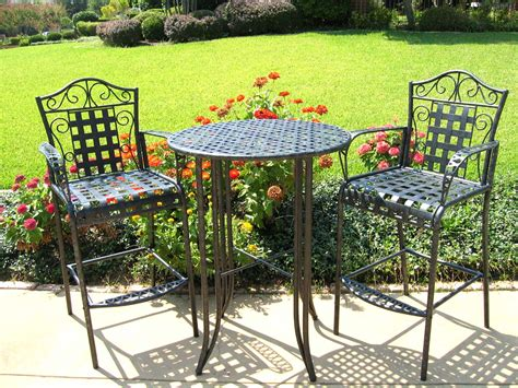 outdoor bistro set 3 piece patio furniture set in patio