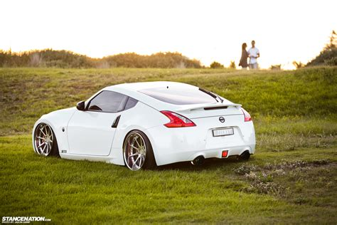 slammed nissan 370z built to order peter s slammed 370z stancenation