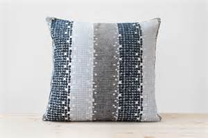 Navy And Gray Throw Pillows Navy Blue Gray Geometric Pillow Navy And White Stripe Cushion