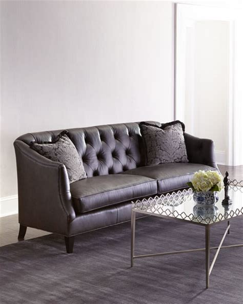 dusk tufted sofa neiman adella tufted leather sofa neiman