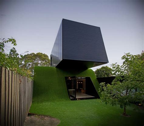 Small House Architects Australia Ra De Skate No Telhado Feita De Grama Lopes Local