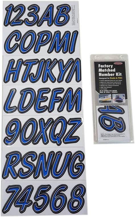 boat numbers blue black boat lettering registration numbers 400