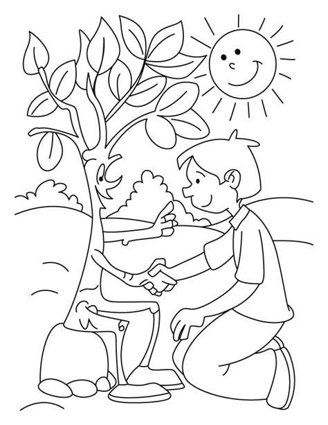 imagenes para colorear medio ambiente buen dia arbol dibujalia dibujos para colorear