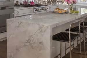 Grey Kitchen Island quartzite countertops metropolitan cabinets