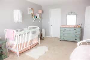 Gray Pink Bedroom - pink mint and gray baby nursery project nursery