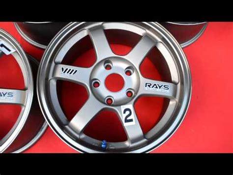 Stiker Velg Mobil Volk Rays Engineering Te37 1 te37 17 videolike