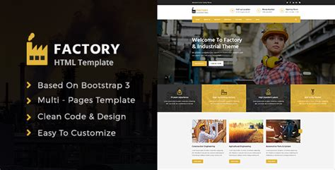 themeforest industrial factory industrial template by clawthemes themeforest
