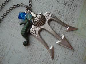 Indie Bedroom Accessories Poseidon Percy Jackson Lightning Thief Trident Necklace
